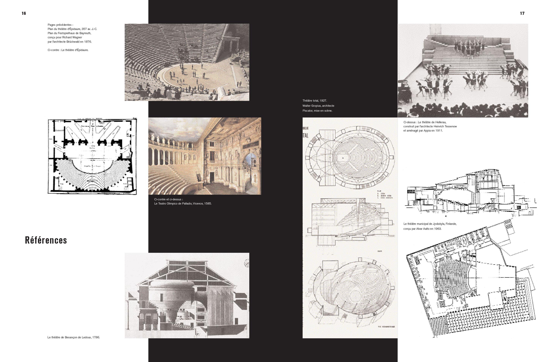 Monographie Fabre et Perrottet Architectes de théâtre Pages 14-15 Éditions Norma