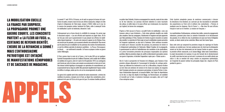 Éditions Catalogue d'exposition Paris 14-18. La guerre au quotidien Paris Bibliothèques Pages 18-19
