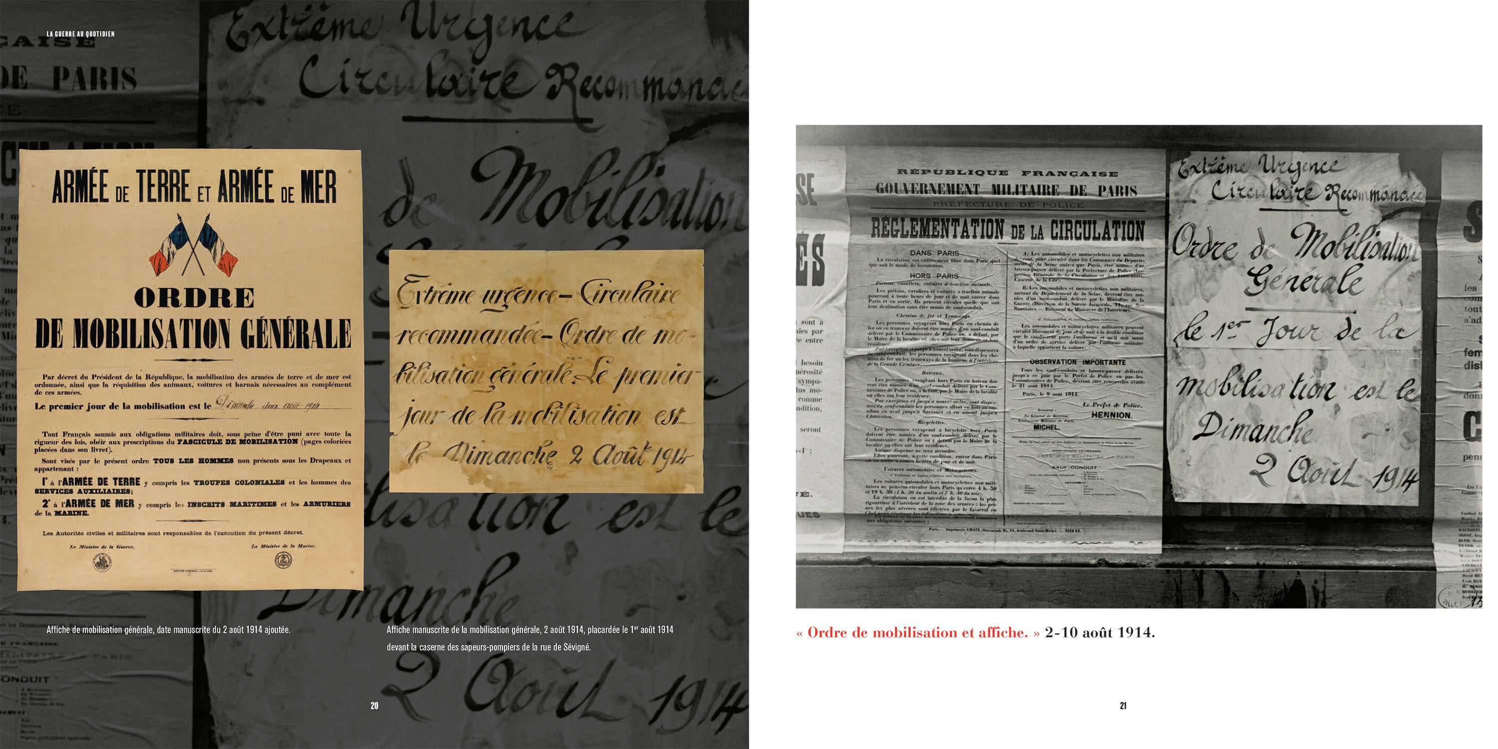 Éditions Catalogue d'exposition Paris 14-18. La guerre au quotidien Paris Bibliothèques Pages 20-21