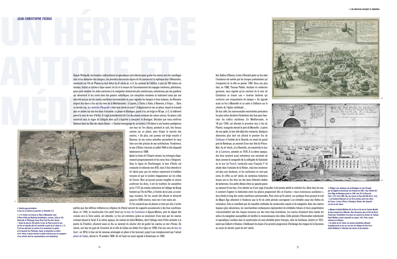Beau livre Phares Monuments historiques des côtes de France Pages 14-15 Éditions du Patrimoine, centre des monuments nationaux