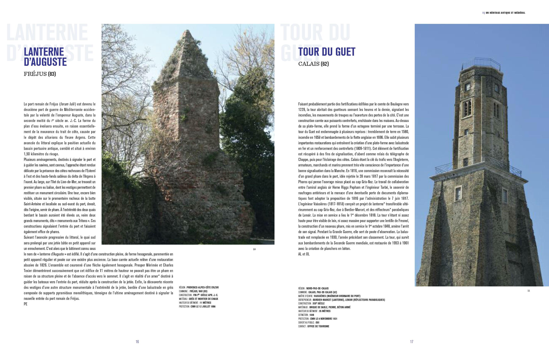 Beau livre Phares Monuments historiques des côtes de France Pages 16-17 Éditions du Patrimoine, centre des monuments nationaux