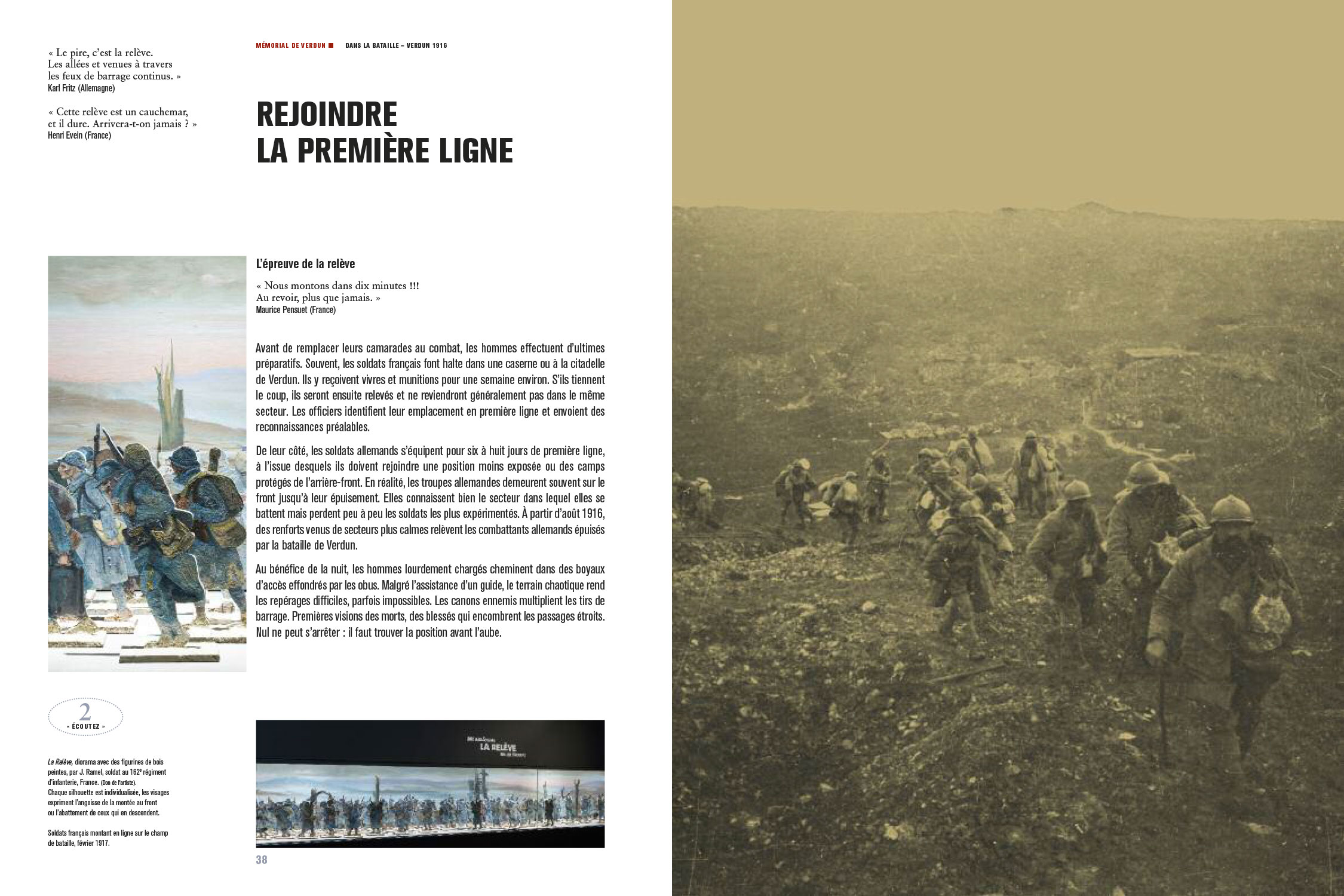 Catalogue d'exposition Dans la bataille de Verdun, 1916 (Pages 38-39) Les nouvelles éditions Jean-Michel Place