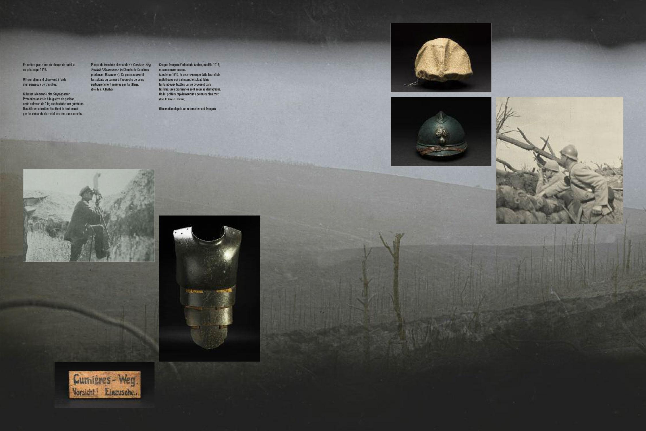 Catalogue d'exposition Dans la bataille de Verdun, 1916 (Pages 42-43) Les nouvelles éditions Jean-Michel Place