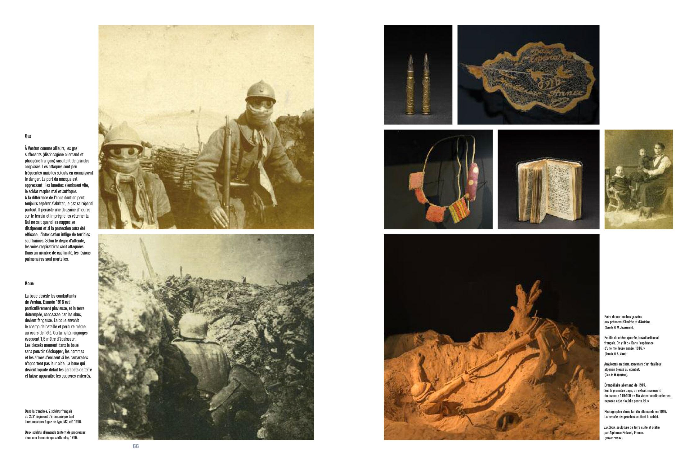 Catalogue d'exposition Dans la bataille de Verdun, 1916 (Pages 66-67) Les nouvelles éditions Jean-Michel Place