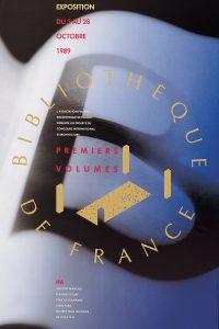 Premiers volumes, Bibliothèque nationale de France Affiche de l'exposition 1989