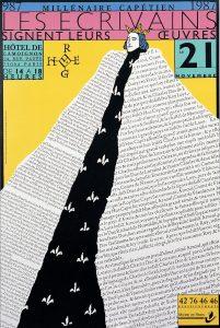 Millénaire capétien, les écrivains signent leurs œuvres Affiche de l'exposition Bibliothèque historique de la Ville de Paris 1987