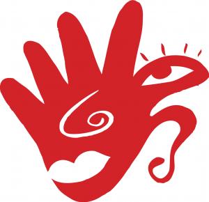 Les cinq sens Dessiné par José Bulnes (Bulnes & Robaglia) Logo de l'exposition « Théâtre des sens » du comité Colbert au Palais de la découverte, Paris 1998