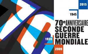 Logo 70e anniversaire de la Seconde Guerre mondiale Ministère de la Défense 2010